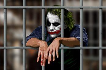 Joker Jail Batman The Dark Knight HD wallpaper