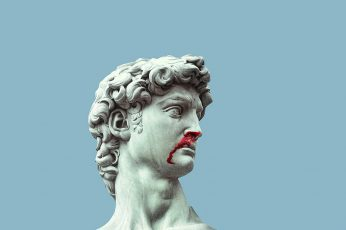 Statue of David marble blood sculpture art and craft representation wallpaper