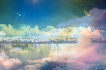 Body of water Earth A Dreamy World Pastel wallpaper sky scenics – nature
