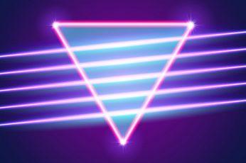 Music, Neon, Background, Triangle, Electronic, Shine, Retro wallpaper