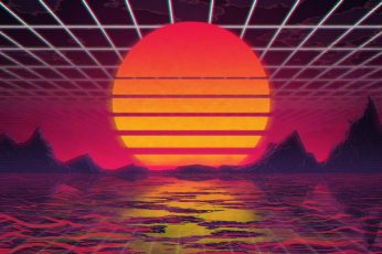The sun, Music, Star, Background, 80s wallpaper, Neon, VHS, 80's, Synth