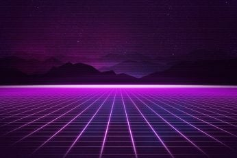 Music, Stars, Background, 80s wallpaper, Neon, 80's, Synth, Retrowave