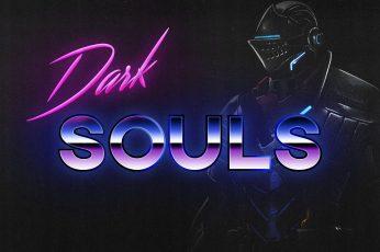 Neon, Dark, Background, Knight, Dark Souls, Synthpop, Darkwave wallpaper