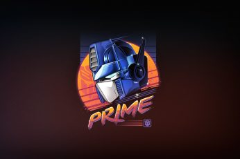 Robot, 80s wallpaper, Neon, Transformers, Optimus Prime, Convoy, 80's