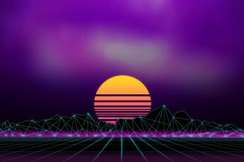 Music, Background, 80s wallpaper, Neon, 80's, Synth, Retrowave, Synthwave