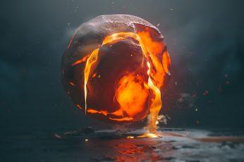 Lava, render, digital, digital art, abstract wallpaper, 3D Abstract, motion