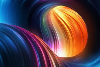 Red and multicolored curve wave digital wallpaper, abstract wallpaper, 3D