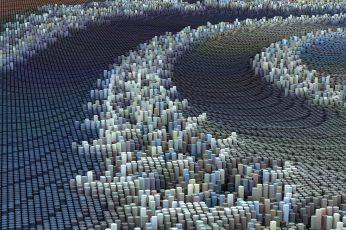 Abstract wallpaper painting, CGI, 3D, digital art, artwork, pattern, business