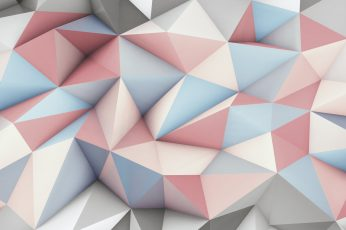 Pink, gray, and beige mosaic wallpaper, abstract, 3D, geometry wallpaper