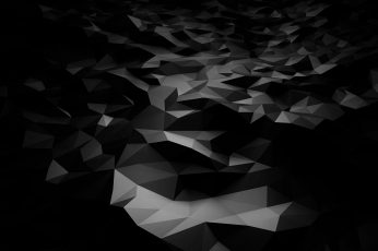 Abstract wallpaper, abstract, 3D, black, dark, polygon art, pattern, no people