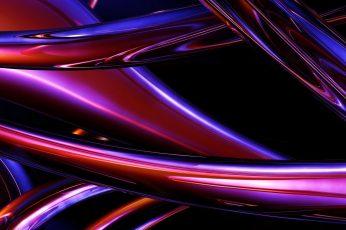 Purple and blue digital wallpaper, digital art, CGI, abstract wallpaper