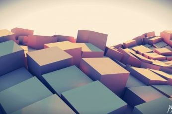 Gray and brown cardboard box, abstract, 3D, digital art, artwork wallpaper