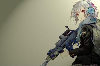 White haired female anime character illustration, anime girls wallpaper