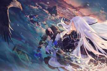 Female with white haired anime character, anime girls, Azur Lane wallpaper