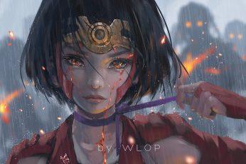Female anime character, anime girls wallpaper, Kabaneri of the Iron Fortress