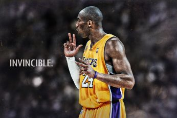 Kobe Bryant Invincible HD Wallpaper, Kobe Bryant, Sports, Basketball