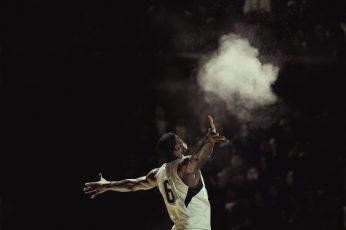 White basketball wallpaper jersey , NBA, LeBron James, Miami, Miami Heat