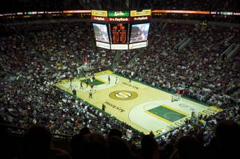 yellow and green poker table, NBA, basketball wallpaper, Seattle Supersonics