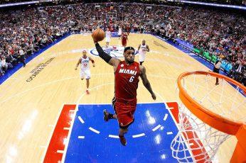 Lebron James wallpaper, NBA, basketball, hoop, Los Angeles Lakers, jumping