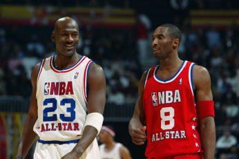 Michael Jordan wallpaper, basketball, smile, NBA, legends, Kobe Bryant