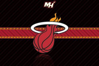 Miami Heat logo, NBA, basketball wallpaper, sports, red, no people, low angle view