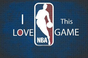 NBA logo wallpaper, basketball, communication, sign, text, western script