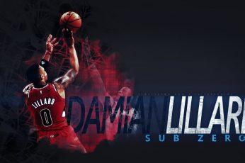 Damian Liliard NBA player illustration wallpaper, Damian Lillard, basketball