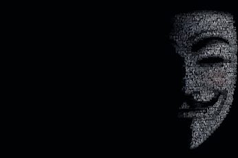 Wallpaper black, black and white, anonymous, hackers, darkness, monochrome