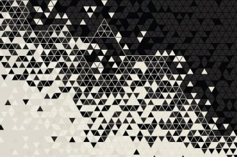 Wallpaper white and black abstract wallpaper, pattern, digital art, triangle