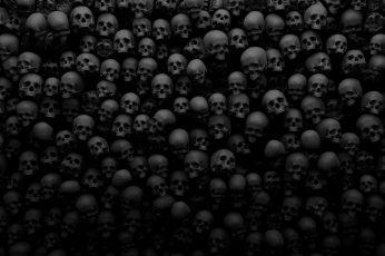 Wallpaper skull, monochrome, dark, darkness, skull art, black and white