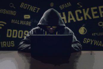 Wallpaper black laptop computer, hacking, hackers, Anonymous, communication