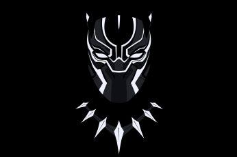 Wallpaper Marvel Black Panther wallpaper, black background, minimalism