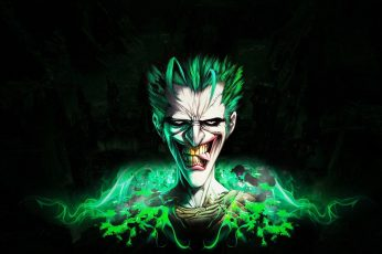 Wallpaper Joker Batman Black HD, the joker digital art, cartoon/comic