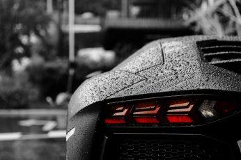 Car Wallpaper, car, Lamborghini, Lamborghini Aventador, bokeh, rain