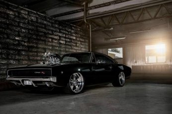 Wallpaper black muscle car, Fast and Furious, Dodge Charger, muscle cars