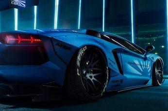 Car wallpaper, sports car, supercar, lamborghini aventador, blue car