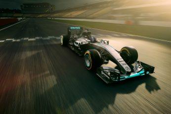 Mercedes AMG Petronas F1 Car 4K wallpaper