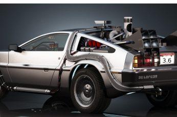 Beige coupe wallpaper, DMC DeLorean, Back to the Future, car wallpaper