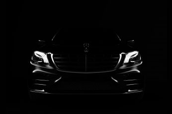 Wallpaper dark, car, vehicle, Mercedes-Benz, artwork