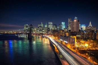 City building structure, city during night, cityscape, New York City wallpaper