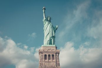Statue of Liberty wallpaper, New York, New York City, USA, sky, sculpture