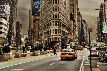Flatiron Building, New York, city, cityscape, architecture, road wallpaper