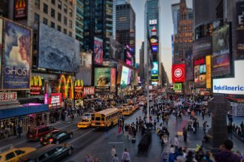 Landscape photography of city buildings, Time Square, New York wallpaper