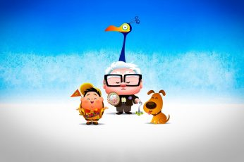 UP Movie Kawaii, Disney Pixar Up wallpaper, Cartoons, blue, humor wallpaper