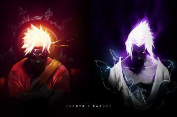 Uchiha Sasuke and Naruto Uzumaki wallpaper, Anime, Sasuke Uchiha wallpaper