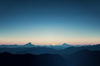 5K, CGI, Dark, Mountains, Sunrise, Minimal wallpaper