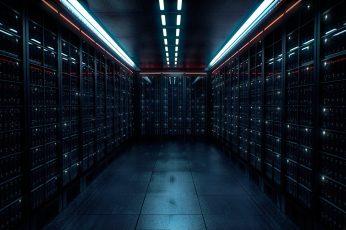 Wallpaper warehouse room, server, lights, dark, data center, datacenter
