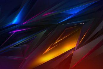 Wallpaper abstract, 3D, dark, digital art, pattern, backgrounds, illuminated