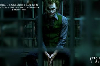 The Joker, Heath Ledger, The Dark Knight, movies, text, Batman wallpaper