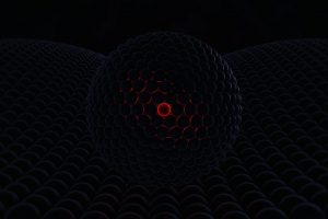 Dark wallpaper, orb, abstract, 3D Abstract, glowing, dark, red, 3d design